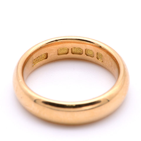 The Vintage 1959 Weighty Solid 18 Carat Gold Wedding Band - Antique Jewellers