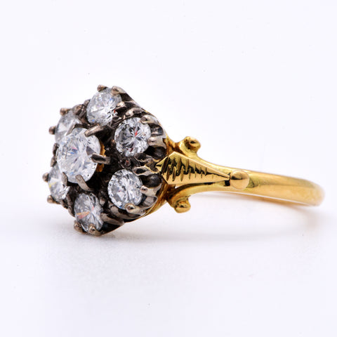 The Vintage Exuberant Cluster Diamond Ring - Antique Jewellers Ltd