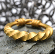 The Rare Viking Age Wearable Ancient Artefact Gold Wedding Band - Antique Jewellers