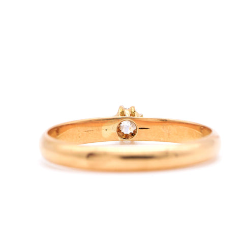 The Edwardian 1915 Solitaire Diamond Engagement Ring - Antique Jewellers Ltd
