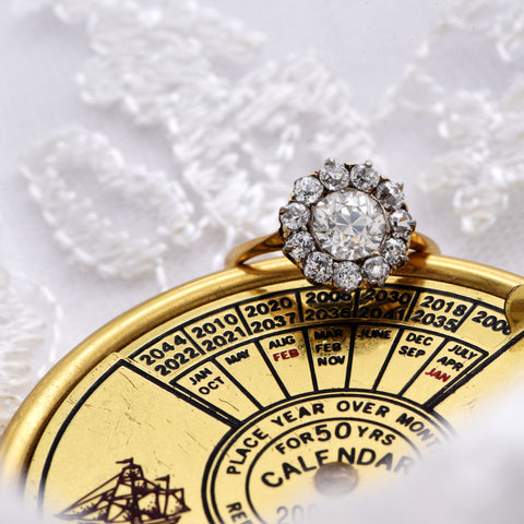 The Victorian Antique XII Diamond Engagement Ring - Antique Jewellers Ltd