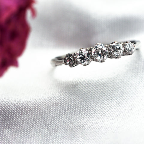The Vintage Platinum Cassiopeia Diamond Engagement Ring - Antique Jewellers Ltd