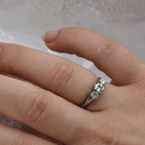 The Vintage Cope & Co Diamond Engagement Ring - Antique Jewellers Ltd