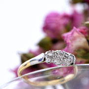 The Mirror Shoulder Three Stone Diamond Engagement Ring - Antique Jewellers Ltd