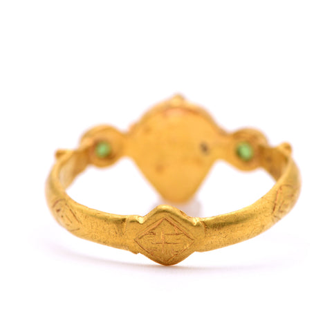 The Medieval Lionheart Antique Gold Ring - Antique Jewellers