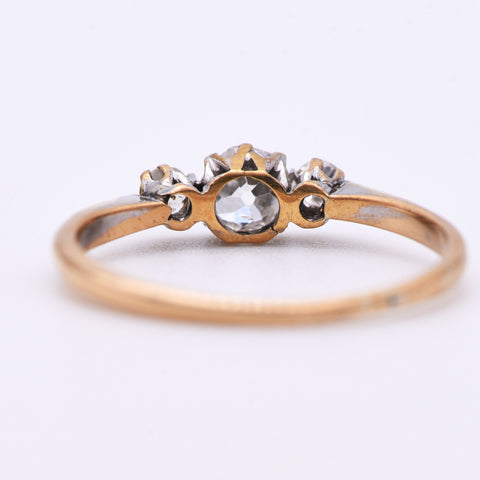 The Antique 1902 Diaphanous Three Stone Diamond Ring - Antique Jewellers