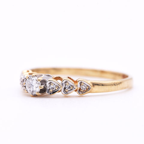 The Vintage Heart Strings Diamond Ring - Antique Jewellers Ltd