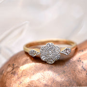 The Vintage Wildflower Diamond Ring - Antique Jewellers Ltd