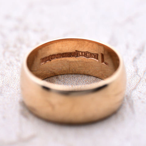 The 1975 Lucky Vintage Gold Wedding Band - Antique Jewellers