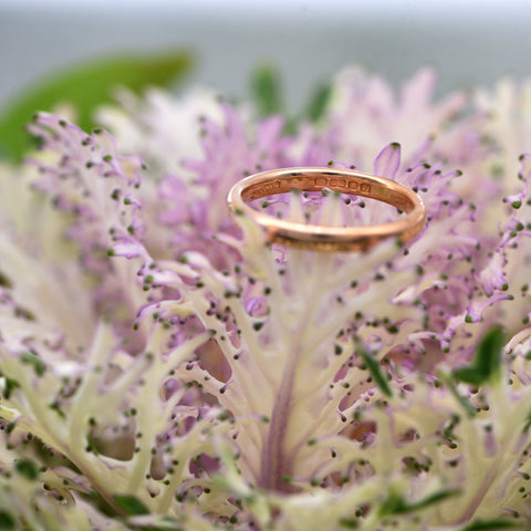 The 1957 Rosey 22 Carat Vintage Gold Wedding Band - Antique Jewellers Ltd