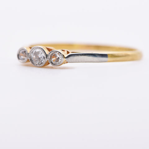 The Trois Jolie Diamond Ring - Antique Jewellers Ltd