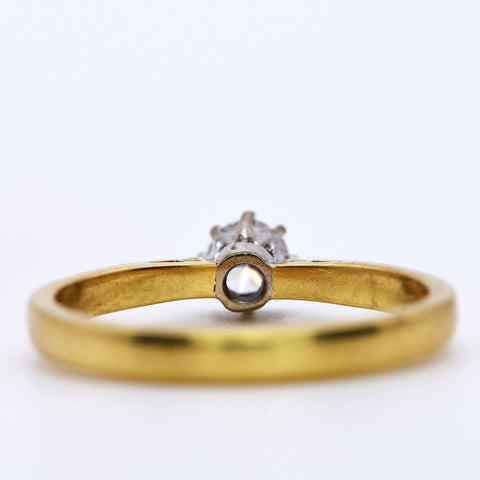 The London Vintage Brilliant Cut Solitaire Diamond Ring - Antique Jewellers Ltd