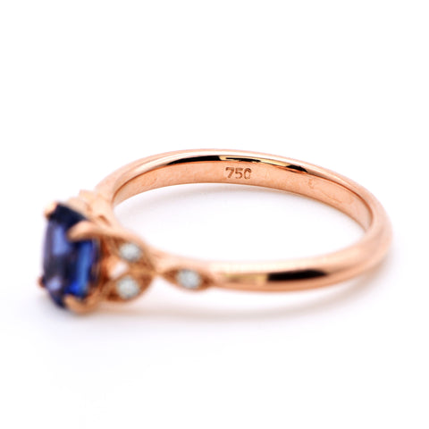 18 Carat Gold Clear Royal Sapphire Ring - Antique Jewellers