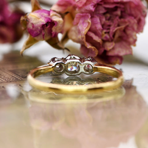 The Vintage Triune Diamond Ring - Antique Jewellers