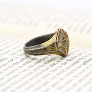 The Crusaders Era Star of Bethlehem Wearable Gold Gilded Silver Ring - Antique Jewellers