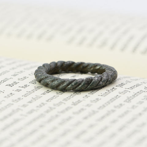 The Viking Era Wearable Bronze Twisted Ring - Antique Jewellers