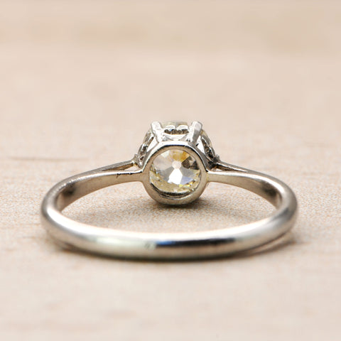 The Antique Heart Gallery Old Cut Diamond Solitaire Ring - Antique Jewellers