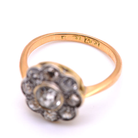 The Victorian Playful Flower Diamond Engagement Ring - Antique Jewellers Ltd
