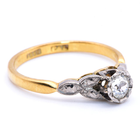 The Art Deco Autumnal Diamond Engagement Ring - Antique Jewellers Ltd
