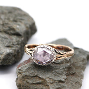 Engagement Ring - Antique, Standout, Victorian - Victorian Natural Pink Solitaire Diamond Engagement Ring, 1.14 Carat, L½ - Antique Jewellers Ltd.