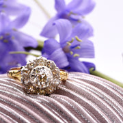 The Antique Early Victorian Standout Cluster Diamond Engagement Ring - Antique Jewellers Ltd