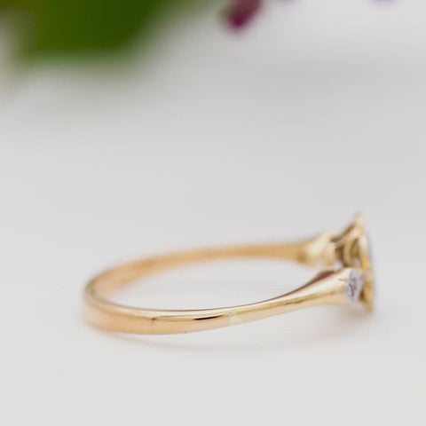 The Vintage Wildflower Diamond Ring