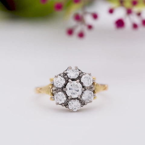 The Vintage Exuberant Cluster Diamond Ring