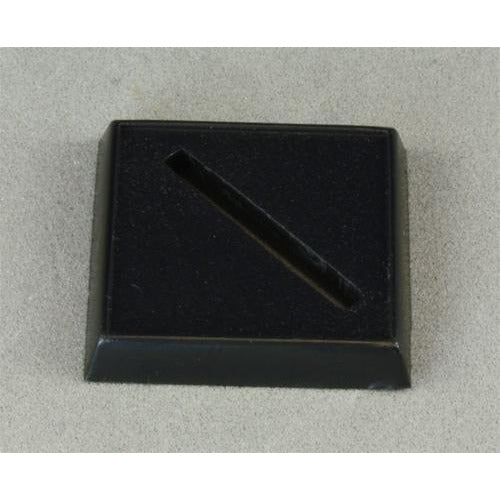 "1"" Square Plastic Base, Universal Slot (20)"