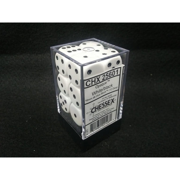 Opaque: 16mm D6 White/Black (12)