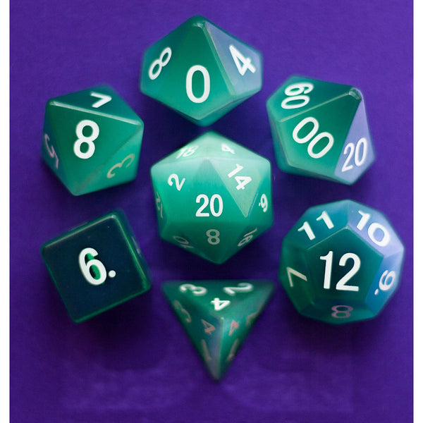 Mint Green Gemstone Dice Set (7)