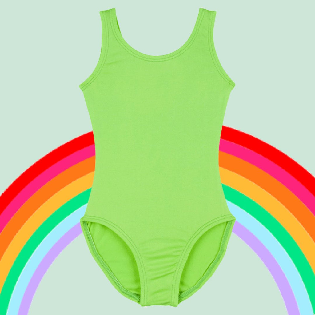 green girls leotards