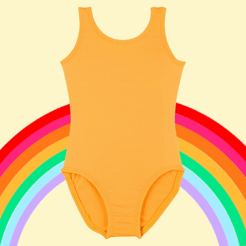 Light yellow and golden yellow leotards for girls in five styles