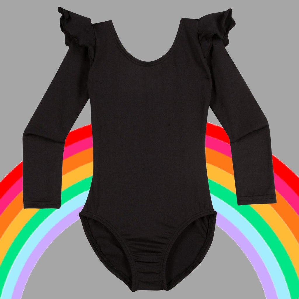 Black leotards for girls in six styles