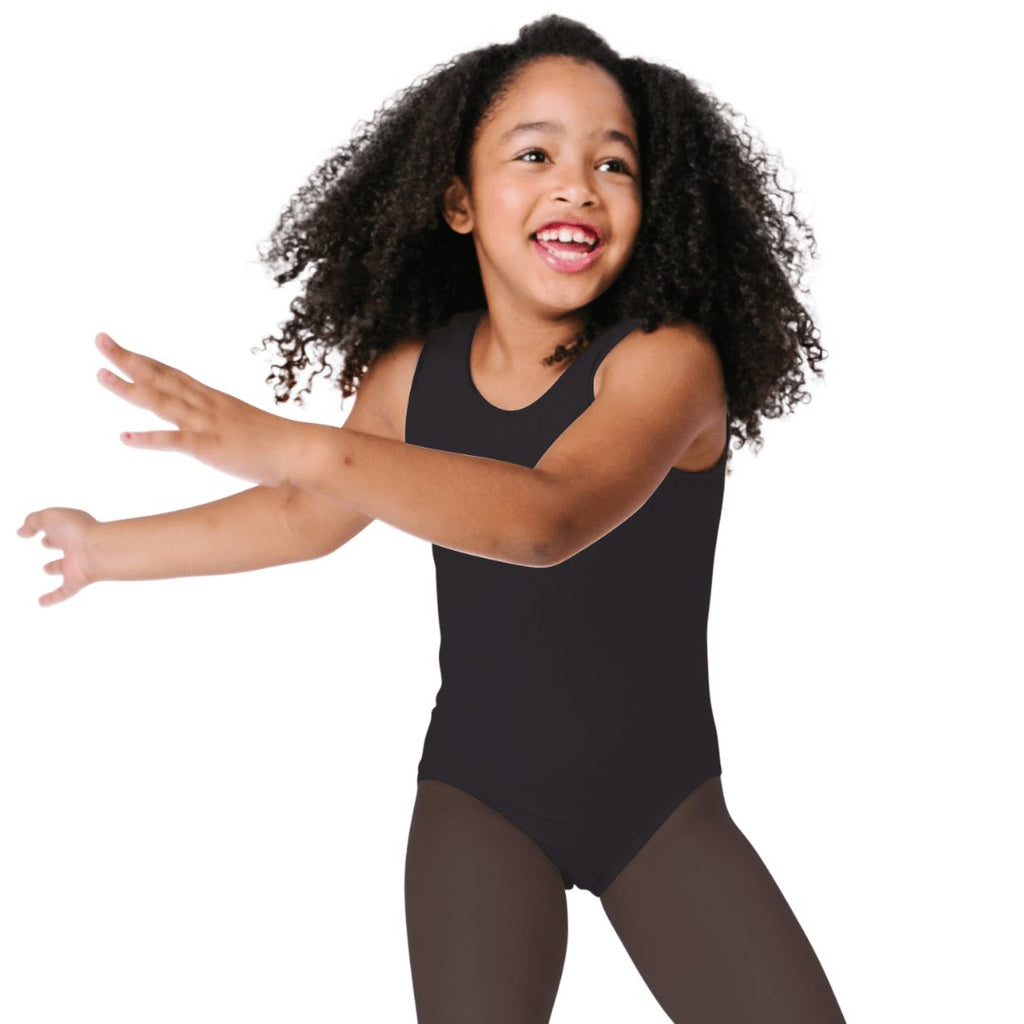 girls sleeveless leotards