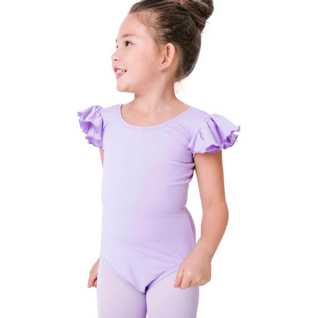 girls ruffle sleeve leotards