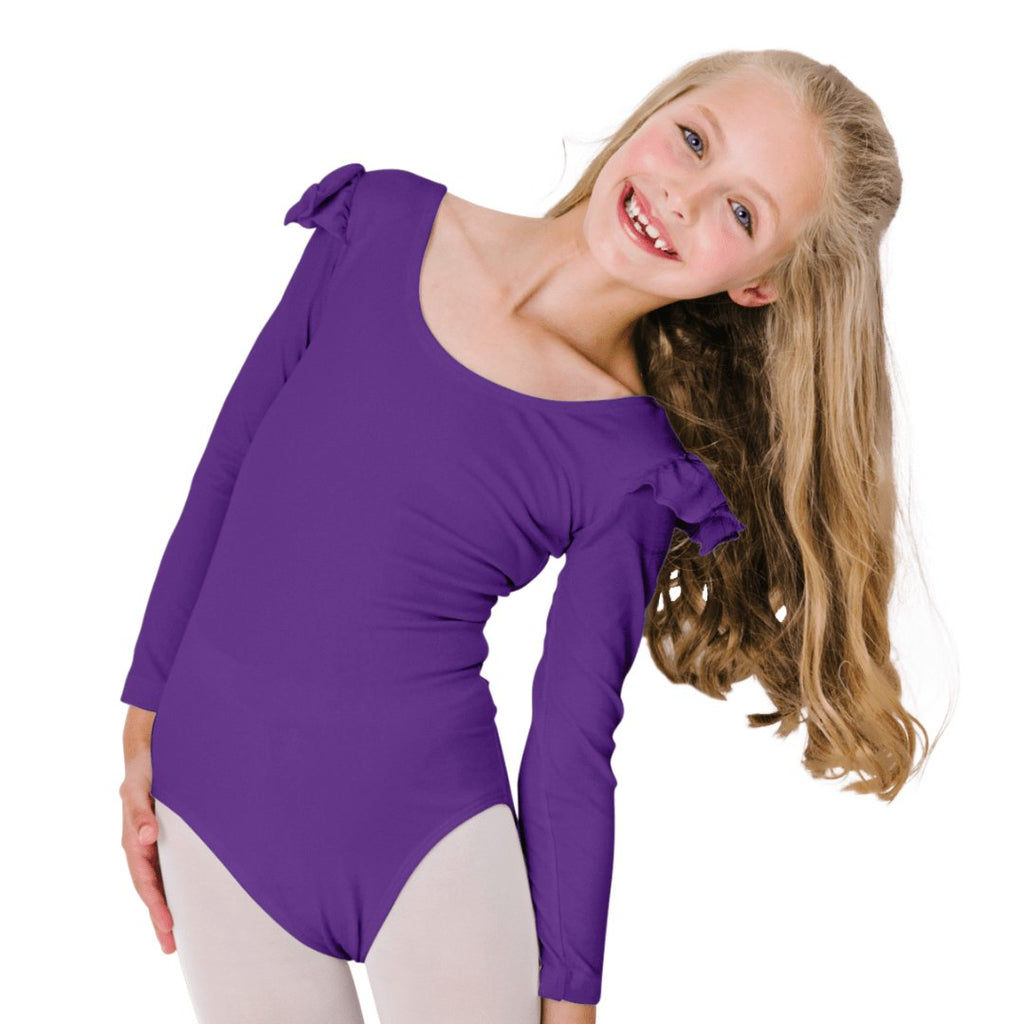 Ruffle Long-Sleeve Leotards for Girls and Toddlers