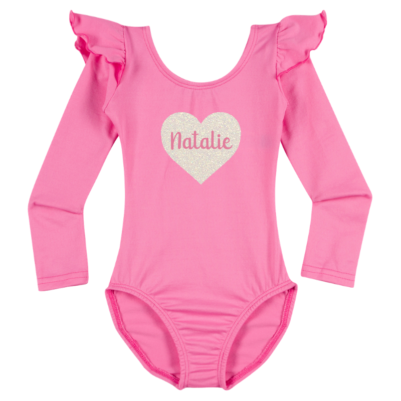 Personalized Valentine's Girls Long Sleeve Top - Pink