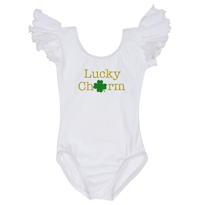 St Patrick's Day Lucky Charm Baby and Toddler Girls Shirt