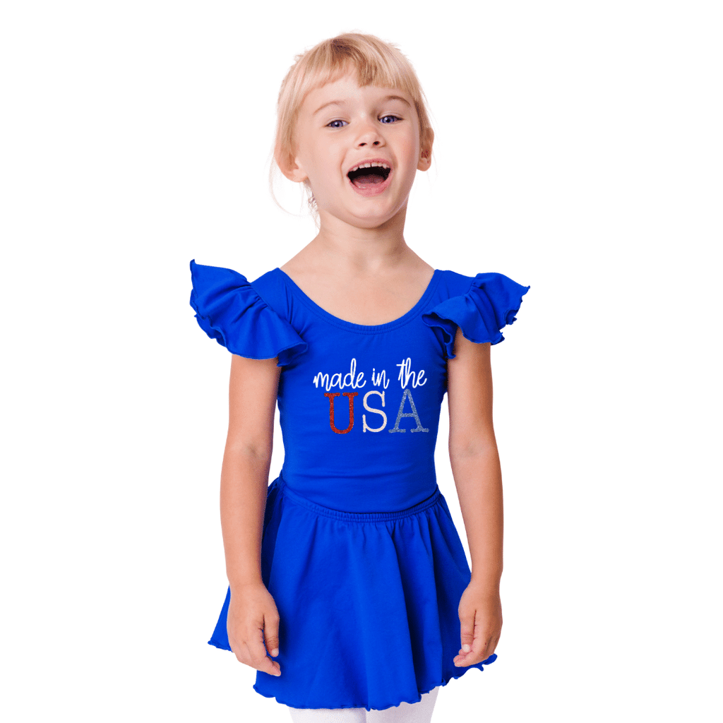 4th of July Leotard for Girls and Toddlers