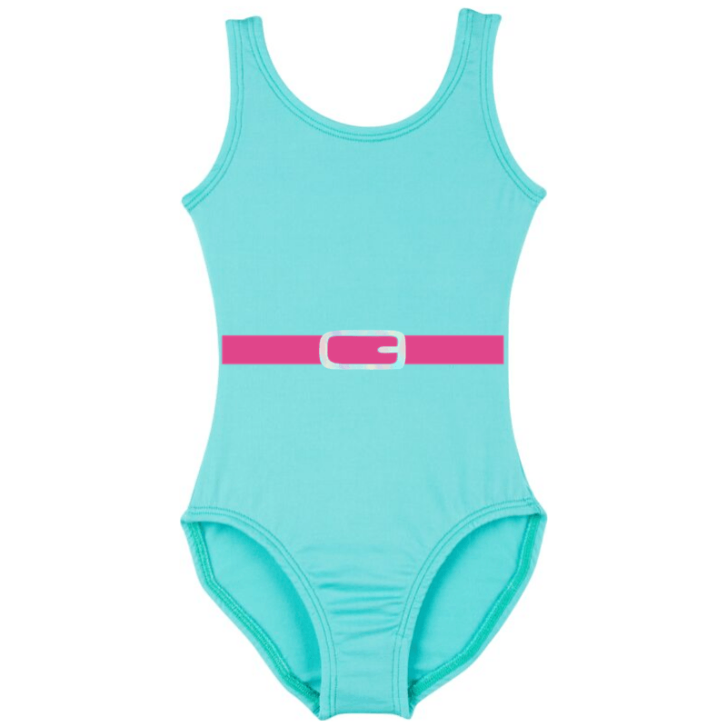 1980's workout leotard girls costume