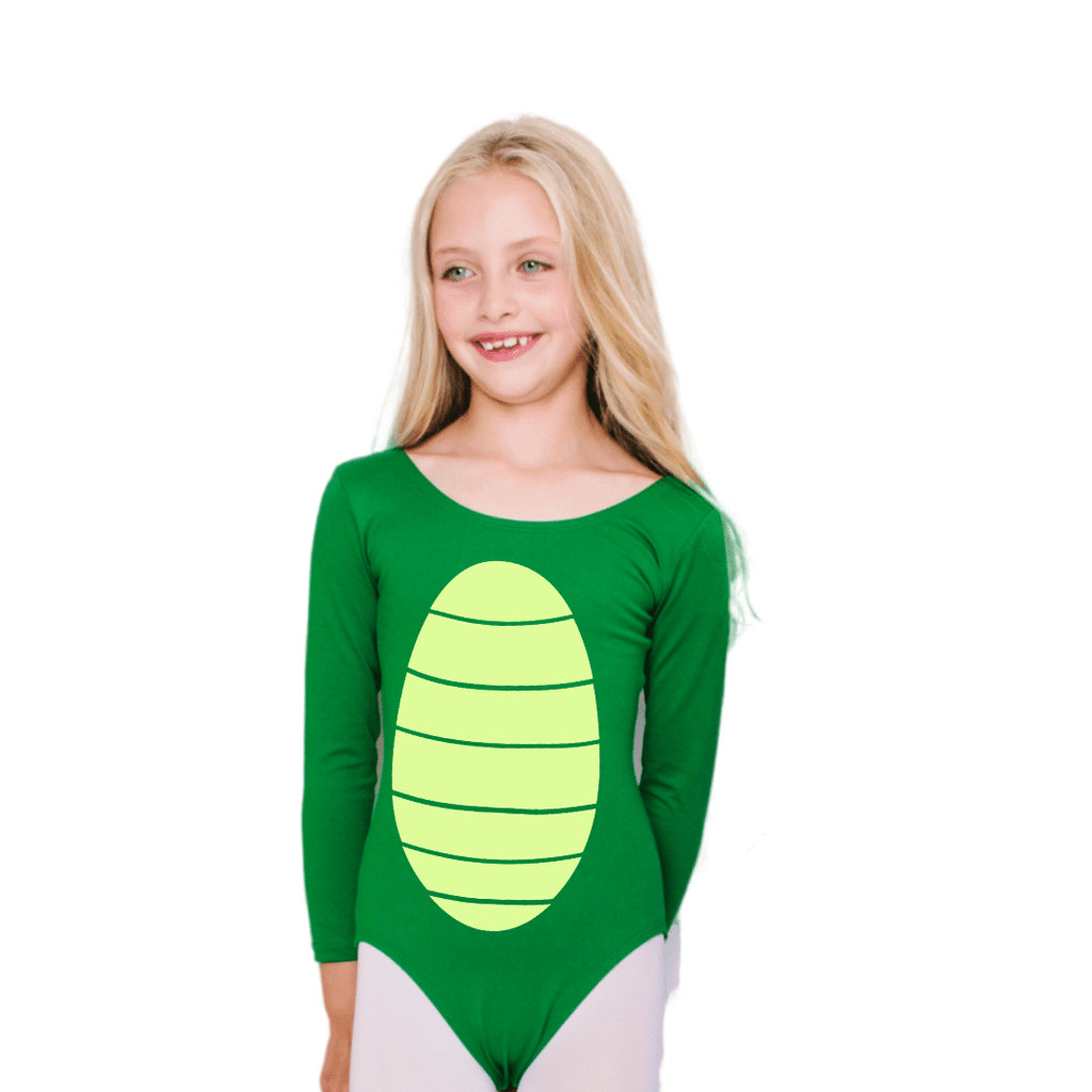 Alligator Dragon Turtle Belly Halloween Costume Leotard for Girls and Toddlers