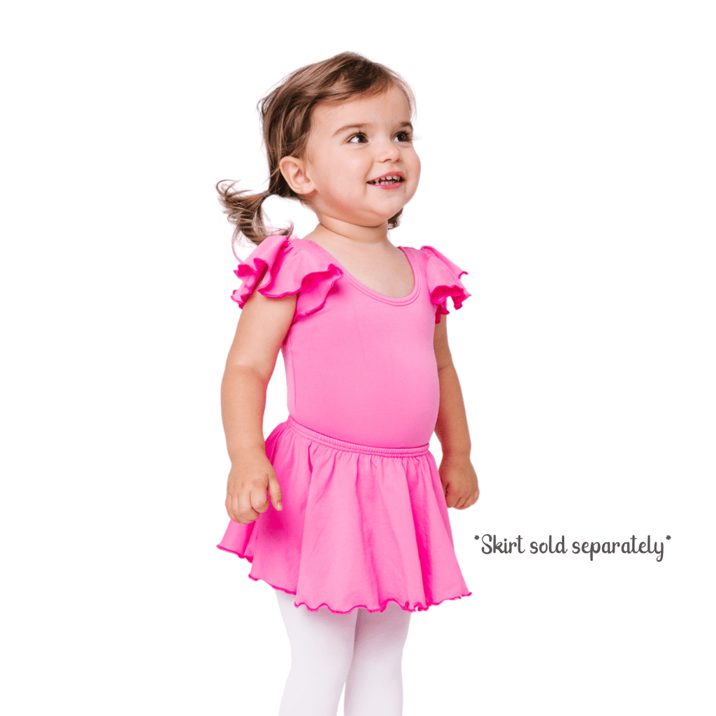 Bright Pink Children's Dance Leotard for Toddlers and Girls