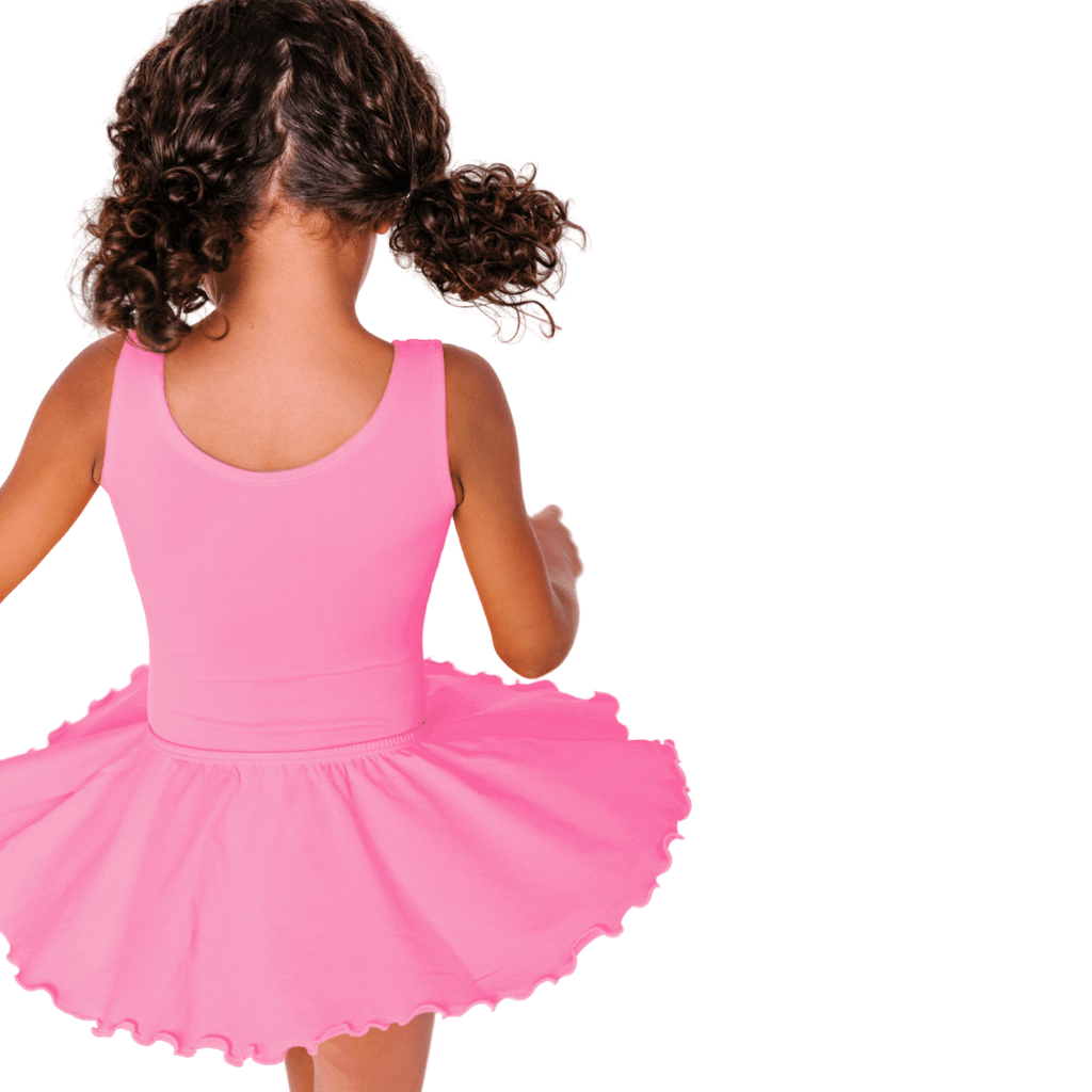 Bright Pink Ruffle/Flutter Dance Skirt for Girls and Toddlers