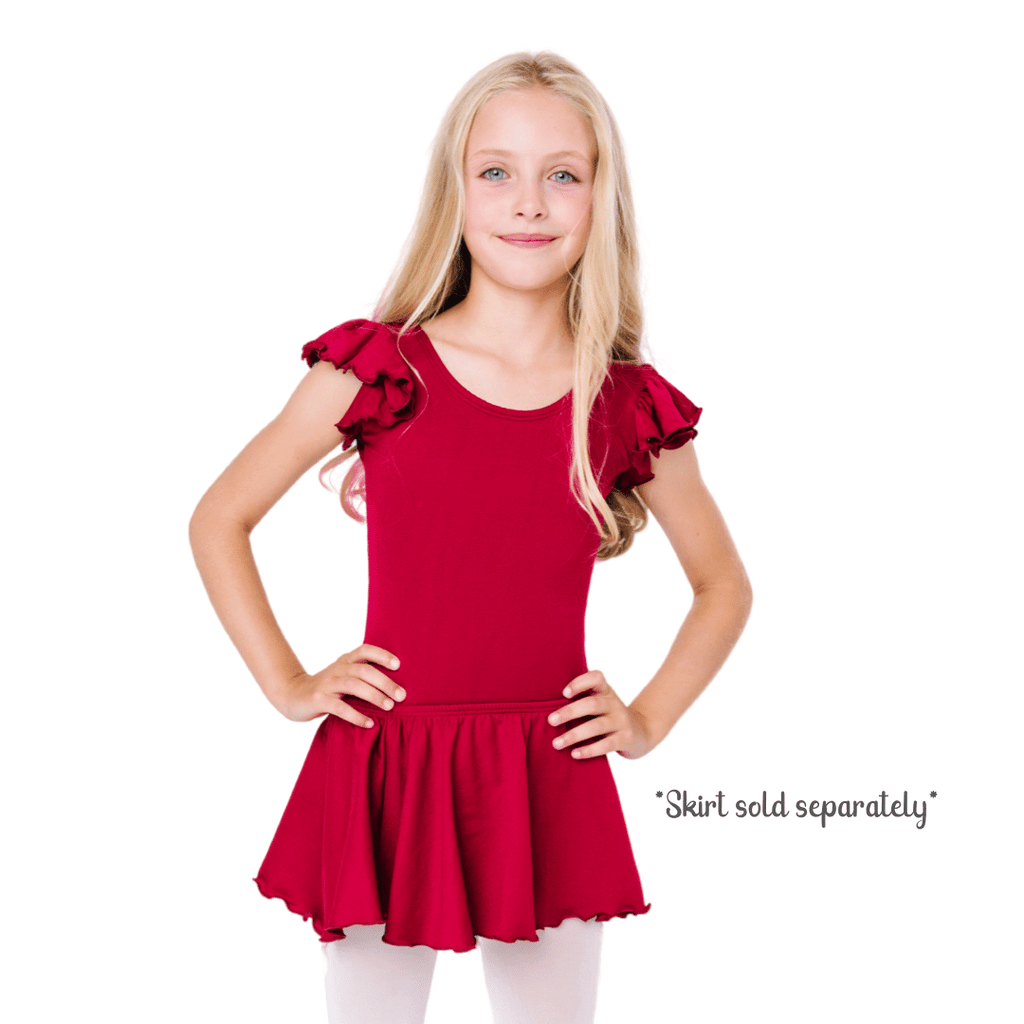 Burgundy Red Dance Leotard for Toddlers and Girls