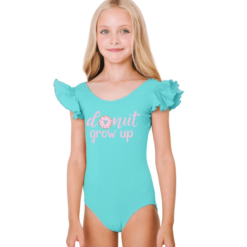 Donut Grow Up Birthday Leotard for Girls and Toddlers