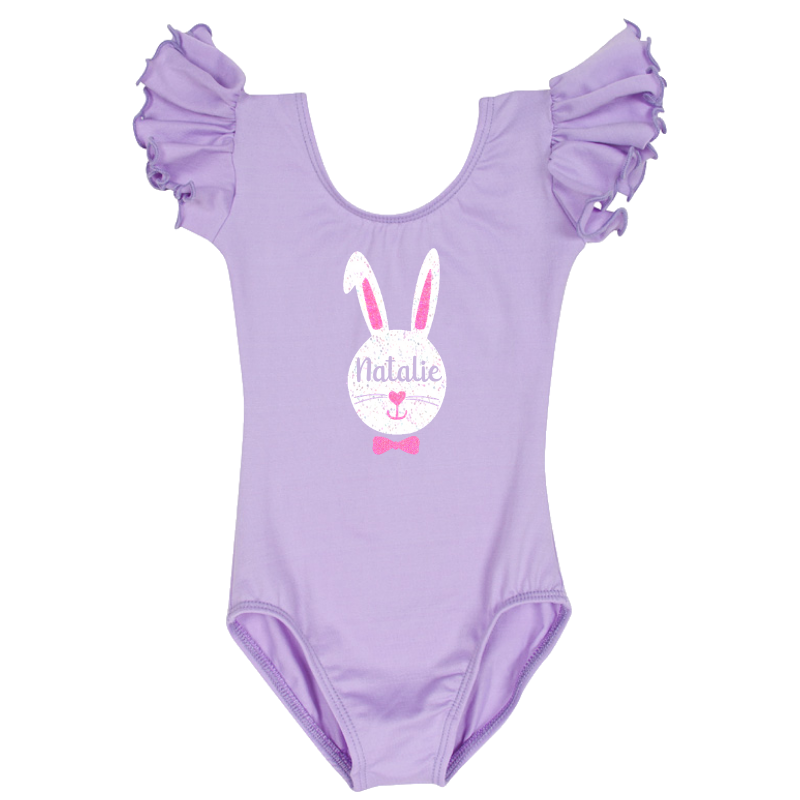 Easter Bunny Girls Lilac Leotard