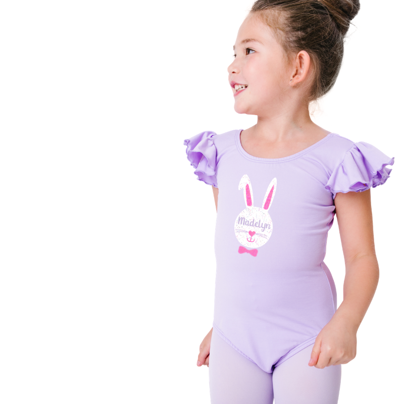Easter Bunny Girls Purple Leotard