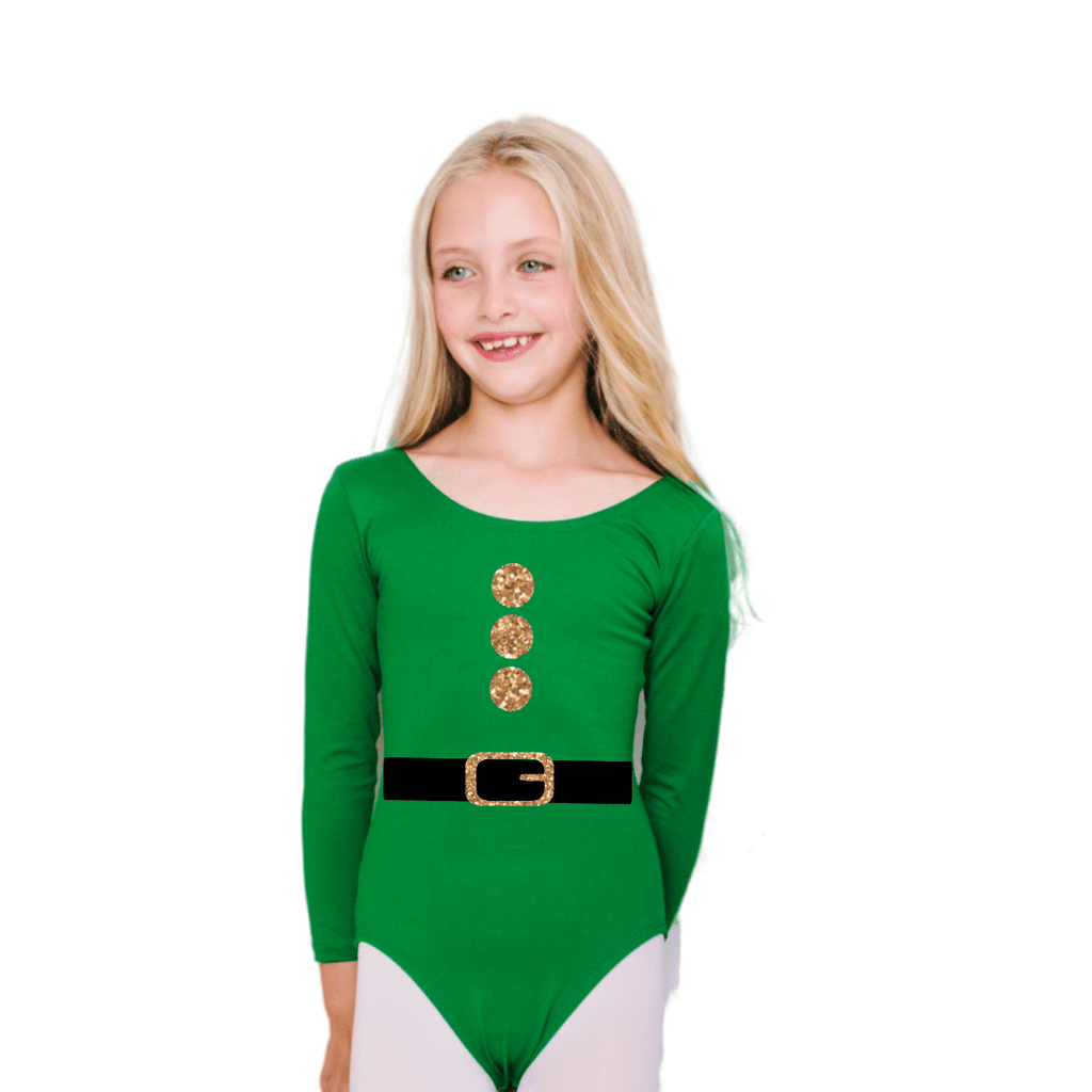 Elf Costume Leotard for Girls and Toddlers