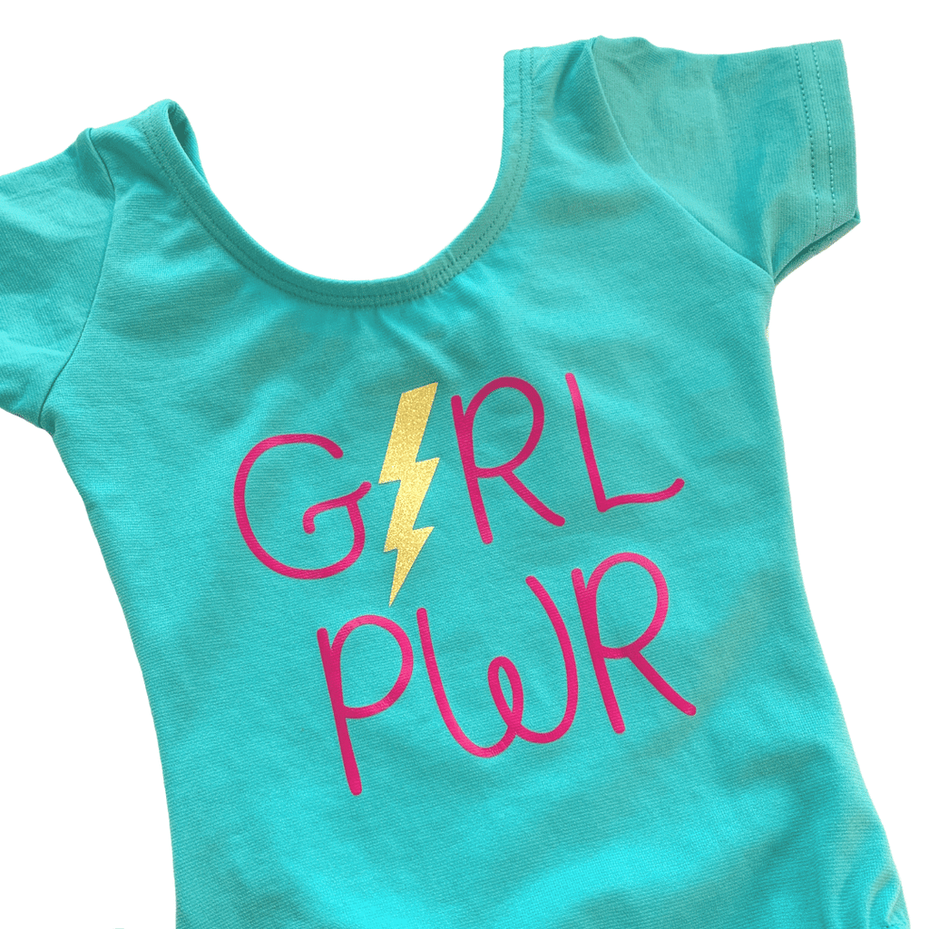 Girl Power Dance and Gymnastics Leotard for Girls and Toddlers