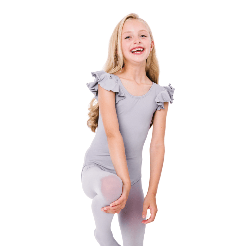 Gray Dance and Ballet Leotard for Toddlers and Girls